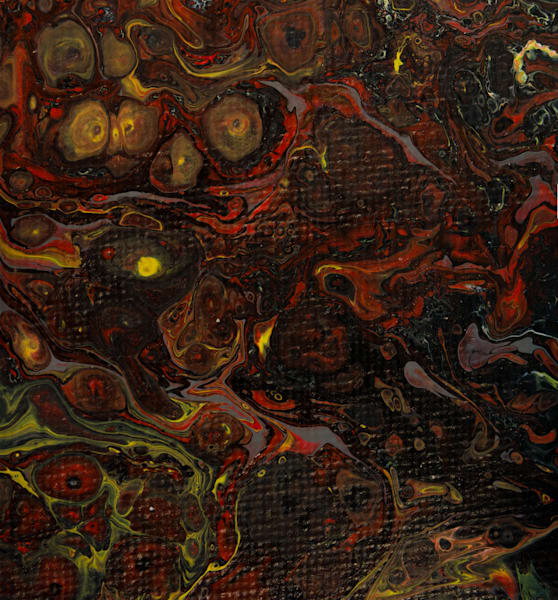 Dirty Acrylic Paint Pour 21 Abstract Photography Reproduction Print