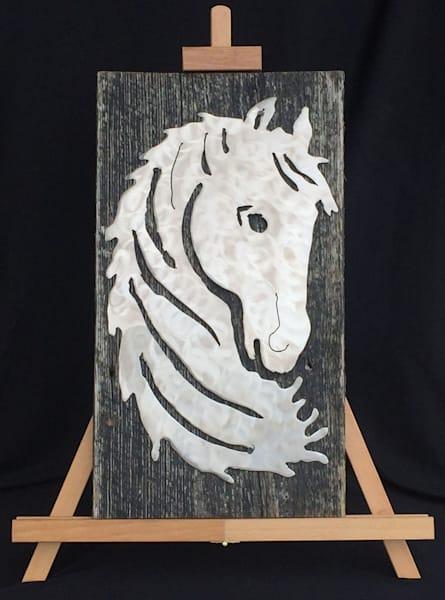 Equus Silhouette equestrian metal steel rustic wood wall art