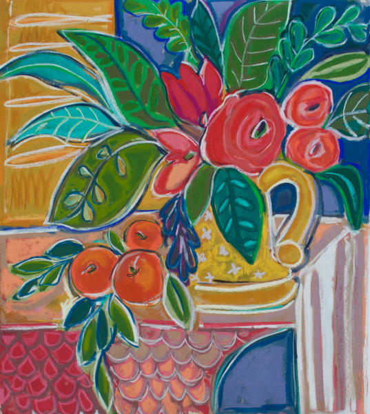 Floral with Oranges