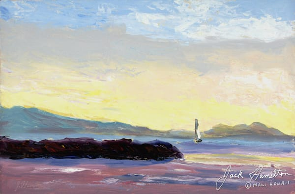 "#1223 ""SAILBOAT LEAVING MAALAEA"""