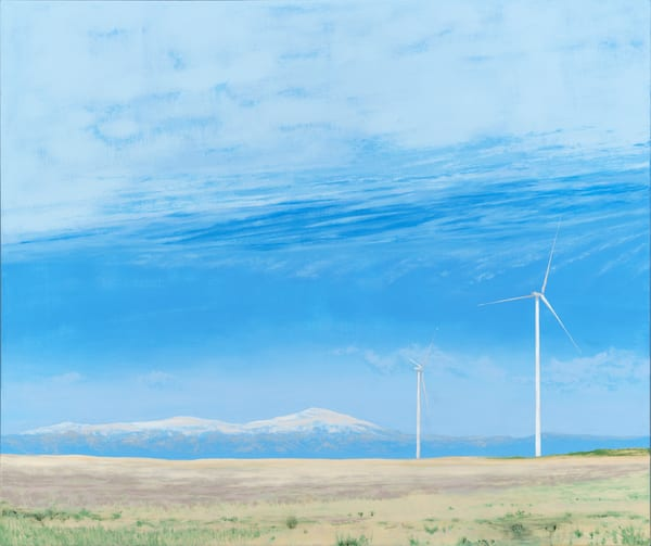 Colorado Wind Turbine Paintings