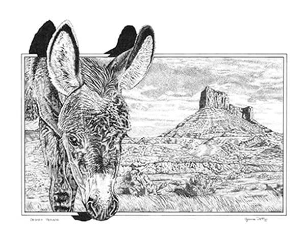 Desert Petunia  Art by yvonnepetty