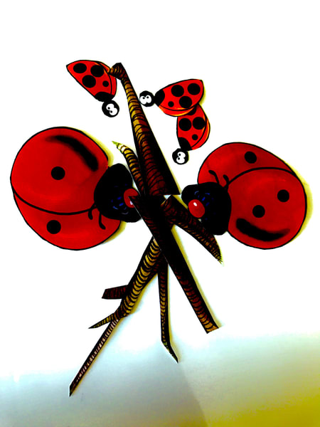 Odeta Xheka Visuals | Interactive nursery art Ladybug for toddlers