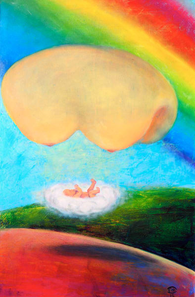 Baby Rainbow - a Godsend After a Loss - Fine Prints on Canvas, Paper, Metal & More by Irina Malkmus.