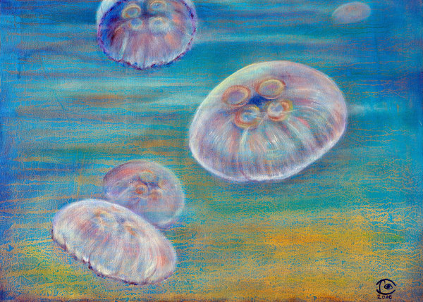Sandy Place for Jellyfish – Fine Art Prints on Canvas, Paper, Metal & More by Irina Malkmus