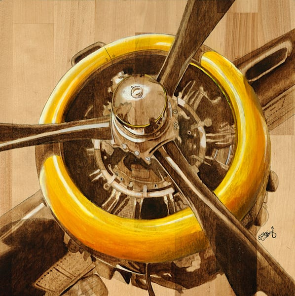 B52 Yellow Radial fine art print by Emily Willey.