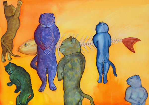 Pussy Men Fine Art print is for sale by artist Irina Malkmus