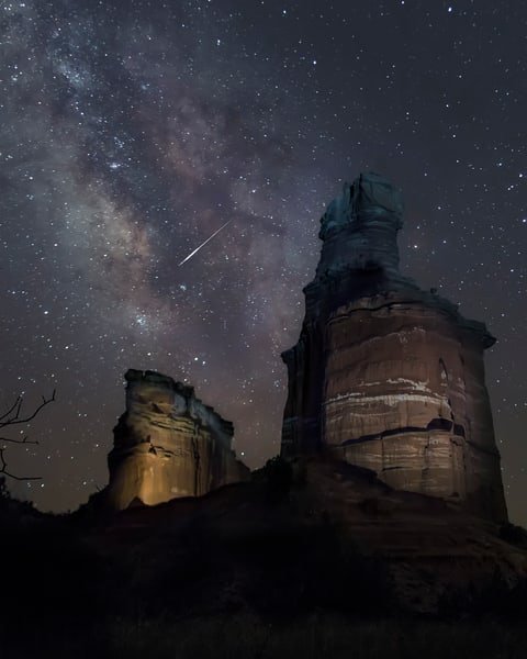 Lighthouse and Milkyway by Jim Livingston