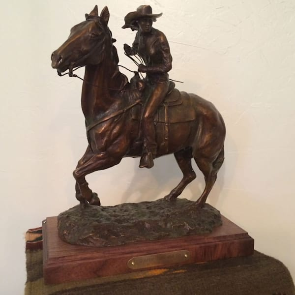 Bronze Western Art Cowboy Sculpture by Mary Michael