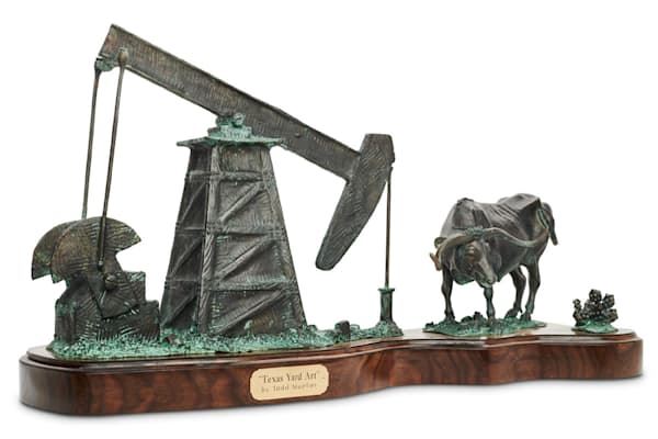 "Bronze Sculpture by Todd Mueller – ""Texas Yard Art"""