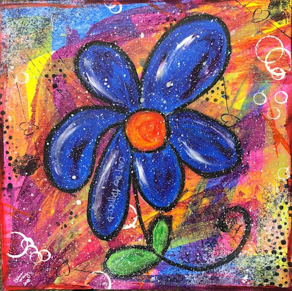 Original Paintings - Paintings by artist Ellen May - Original Flower Mixed Media Paintings