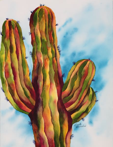 Vivid and Majestic Saguaro Cactus