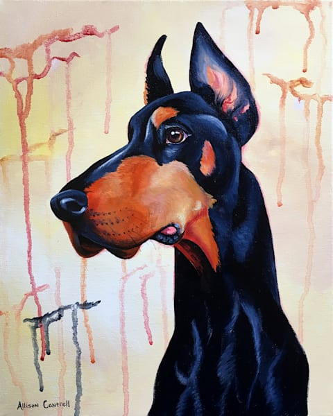 doberman dog fine art print