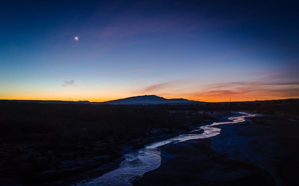 calendar, photography, new mexico, predawn, landscape, rio salado, moonrise
