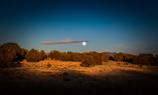 New Mexico, Photography, landscape, nature, sunset, moonrise, arroyo