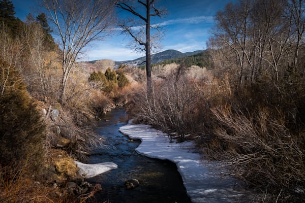 Photography, rio pueblo, snow, winter, river, new new mexico, nature, landscape, high road