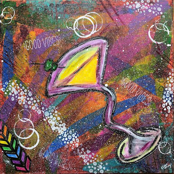 Martini Original Fine Art Painting - Martini Painting by Artist Ellen May