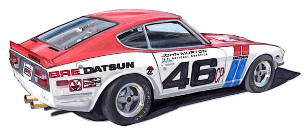 240 Bre Racer Art | Motorgirl Studios