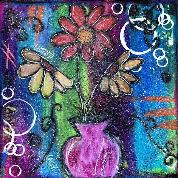 Original Sunflower Fine Art Painting - Original Painting by Artist Ellen May