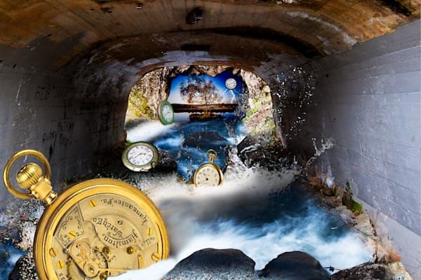 Time Swept Away, Surreal art, Vincent DiLeo, Clock Art