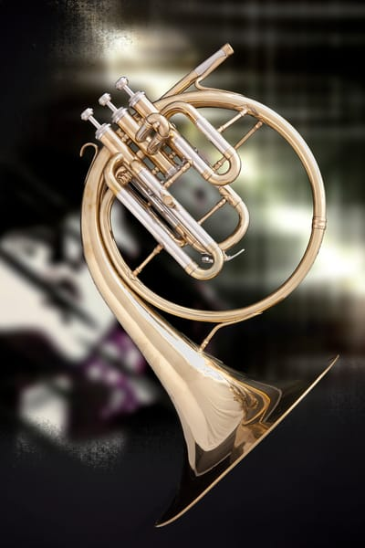 French Horn Antique Music Art 2079.09