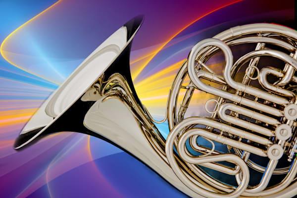 Modern French Horn Metal Wall Art 2079.16