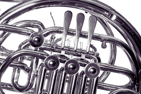 French Horn Art Photographs in Black and White