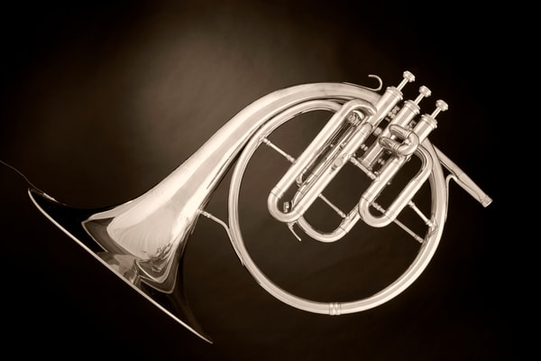 Canvas Print Classic Antique French Horn 2080.23