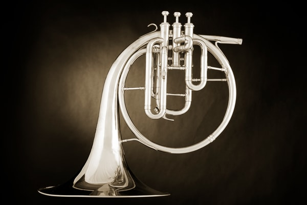 French Horn Antique Music Art 2080.27