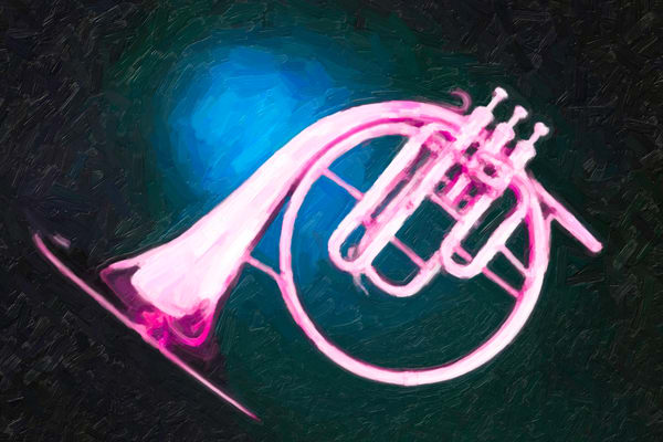 Dreamy Pink French Horn Painting 2081.45