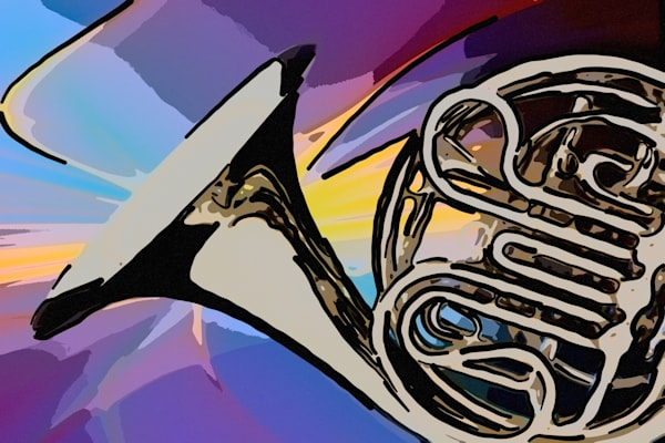 Modern French Horn Painting 2081.53 for Canvas
