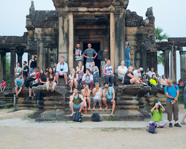 Siem Reap Sunrise Tourists