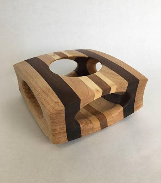 Square Form Wood Art Piece Maple Walnut Ash Cherry