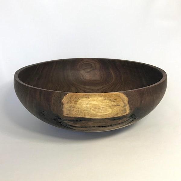 Large Hand Turned Wood Bowl
