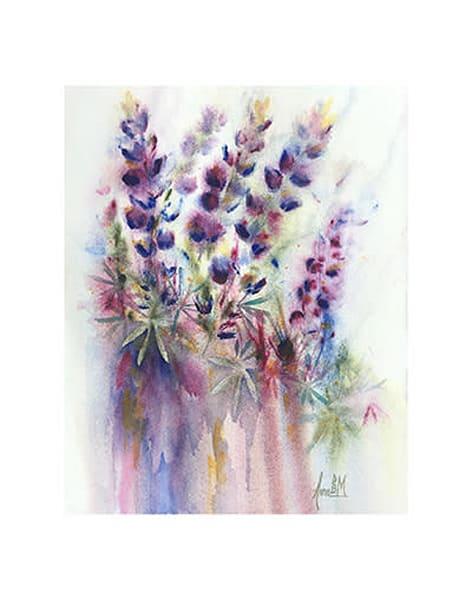 11x14 Lupine Spring On Paper Art | HFA print gallery