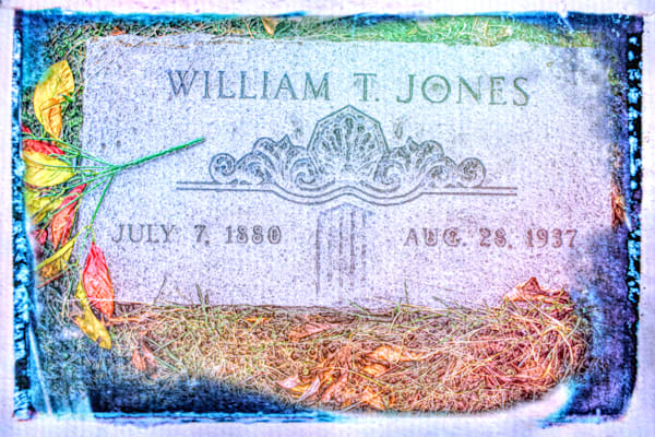 William T Jones Gravestone  Art | toddbreitling