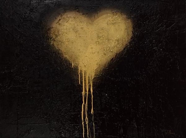 Abstract Art- Mixed Media Painting- ATR Fine Art- Heart Painting
