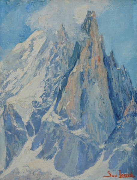 Vintage French Mountain Painting
