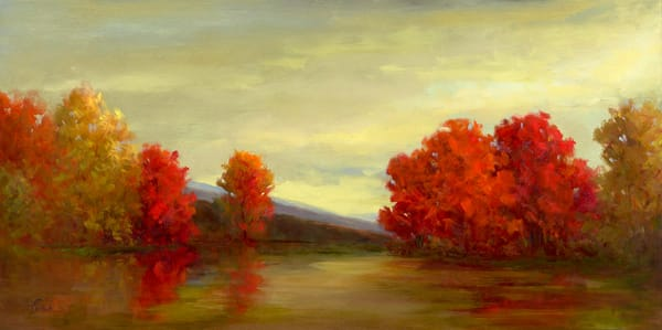 A Vermilion Calm Art | SHEILA FINCH FINE ART