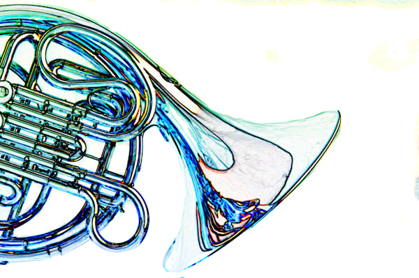 Isolated French Horn Watercolor Print 2084.45