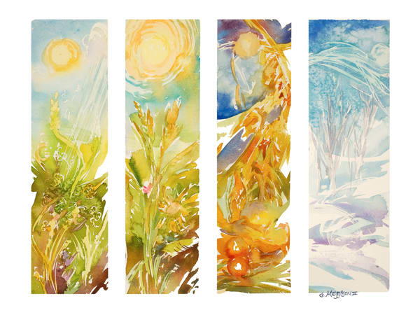 Four Seasons 1 | Watercolor Landscapes | Gordon Meggison IV