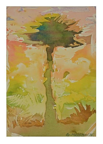 Summer Heat   Abstract Watercolor   Gordon Meggison IV