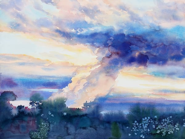 Irma's Coming | Watercolor Landscapes | Gordon Meggison IV