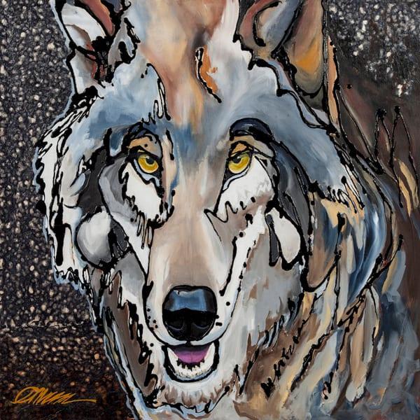 wolf painting art