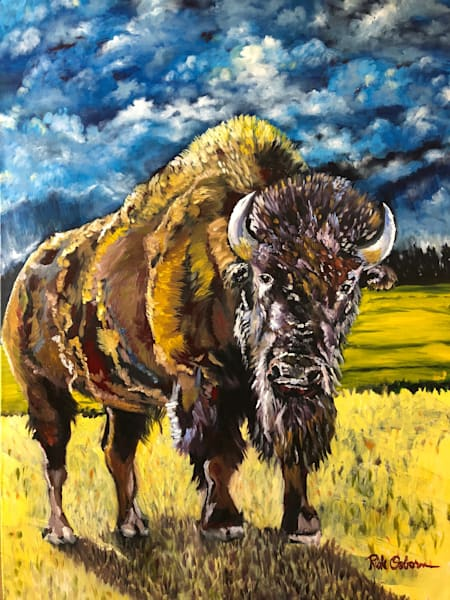 Bison | Fine Art Painting Print by Rick Osborn Artist