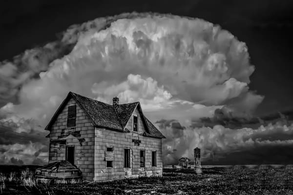 Distant memories, a black and white photo by Jim Livingston