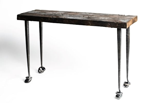 Mild Steel and Solid Maple Allium Table