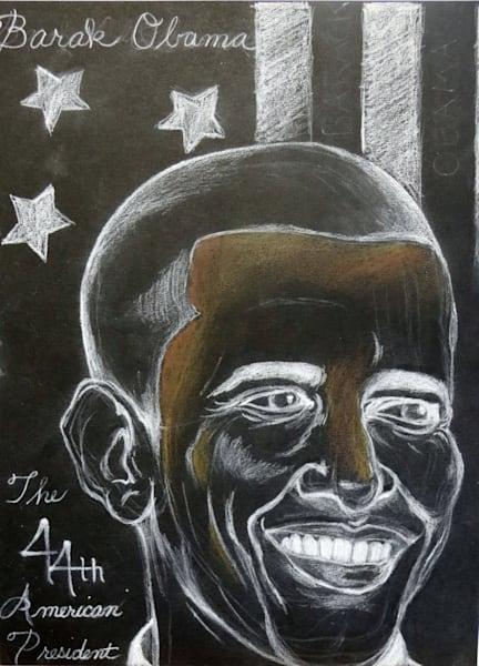 Mr. President Original Hand Drawn Art Work Barak Obama