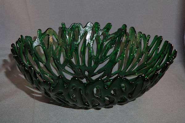 0047 Green Coral Bowl Art | Midamericanartisans