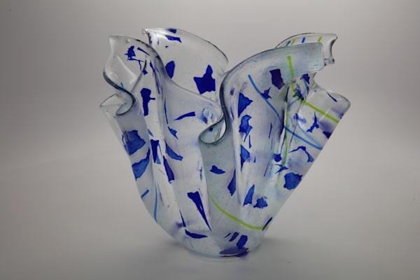 0036 Blue Confetti Vase